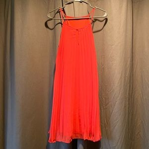 ASOS Alythea Salmon Pleated Dress